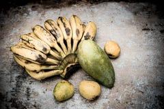 Tropical fruit still life, Stock Photo
