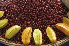 Tropical Fruit Sunburst Royalty Free Stock Images