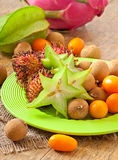 Tropical fruit in Thailand Royalty Free Stock Photo