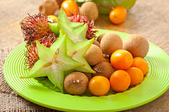Tropical fruit in Thailand Stock Photo