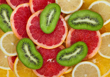 Tropical fruits. A tropical fresh fruits background Stock Images