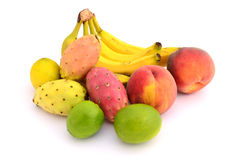 Tropical fruits. In ront of white background Stock Photography
