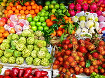 Tropical Fruits. Beautiful fruits of Tropical Asia Royalty Free Stock Photos
