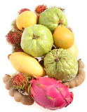 Tropical fruits from above Stock Photography