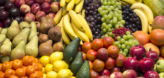 Tropical fruits arrangament Stock Images