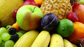 Tropical Fruits and Berries stock footage