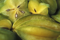 Tropical fruits: carambola. Stock Photos
