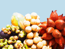 Tropical fruits. The edible tropical fruits of Southeast Asian Stock Photo