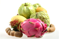 Tropical fruits front view Stock Photo