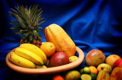 Tropical fruits II. A bunch of tropical fruits Royalty Free Stock Image