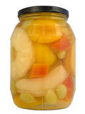 Tropical fruits  in jar Stock Photography