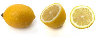 Tropical fruits: Lemon Royalty Free Stock Photos