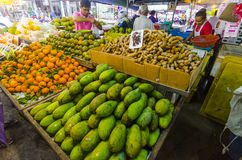 Tropical fruits in packages Stock Photography