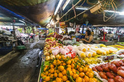 Tropical fruits in packages Royalty Free Stock Photos