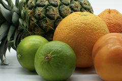 Close-up of tropical fruits royalty free stock photo
