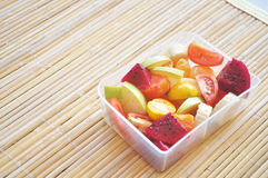 Tropical Fruits Salad. Suits as your breakfast or bring them on the picnic time Stock Photos