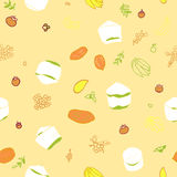 Tropical fruits seamless pattern Royalty Free Stock Images