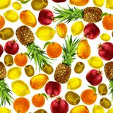 Tropical fruits seamless pattern Royalty Free Stock Photo