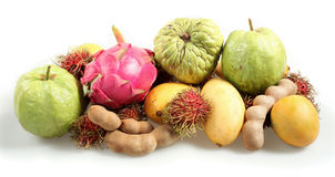 Tropical fruits from the side Royalty Free Stock Photography