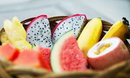 Tropical fruits Stock Image