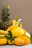 Tropical fruits on the table Stock Photo