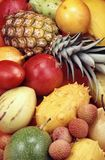 Tropical fruits and vegetables Royalty Free Stock Photos