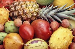 Tropical fruits and vegetables Stock Photos