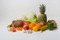 Tropical Fruits and Vegetables Stock Photo