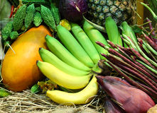 Tropical fruits and Vegetables Royalty Free Stock Images