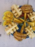 The tropical fuit platter - vertical Stock Photo