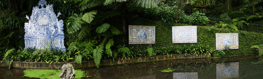 Tropical Garden at Monte above Funchal Madeira Stock Images