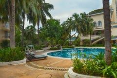 Tropical garden pool Stock Photography