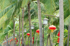 Tropical garden Stock Image
