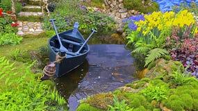 Tropical garden in spring season Stock Photos