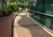 Tropical garden and Tainan City Hall Stock Images