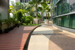 Tropical garden and Tainan Royalty Free Stock Image