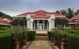 Tropical garden in vintage resort at Hua-Hin Stock Images