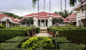 Tropical garden in vintage resort at Hua-Hin Royalty Free Stock Photography