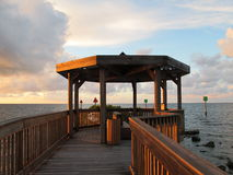 Tropical Gazebo. Gazebo overlooking the ocean during morning sunrise Royalty Free Stock Photos