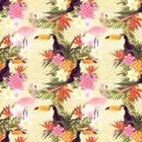 Tropical Geometric Floral Stock Photos