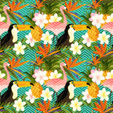Tropical Geometric Summer Stock Image
