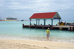 Tropical getaway. Viewing the sites on a tropical cruise Stock Photography