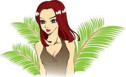 Tropical girl Stock Photos