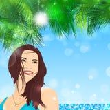 Tropical Girl Stock Photo
