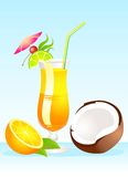 Tropical Glass of cocktail Stock Images