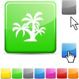 Tropical glossy button. Royalty Free Stock Images