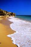 Tropical golden beach. Praia D'Oura, Algarve, Portugal Royalty Free Stock Image