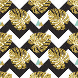 Tropical golden palm leaves seamless background royalty free illustration