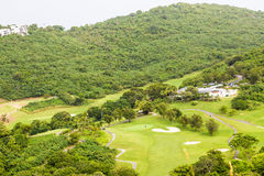 Tropical Golf Course on St Thomas Royalty Free Stock Photography