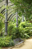 Tropical greenhouse in the Parc de la Ciutadella Stock Photography